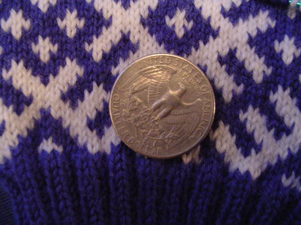 Komi Sock with Quarter for size comparison
