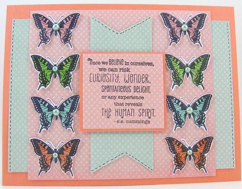 Eight Butterflies Card