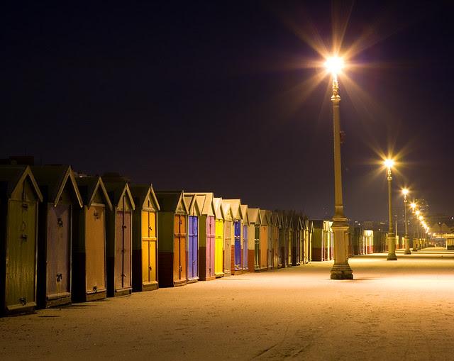 Hove Beach Huts in Snow