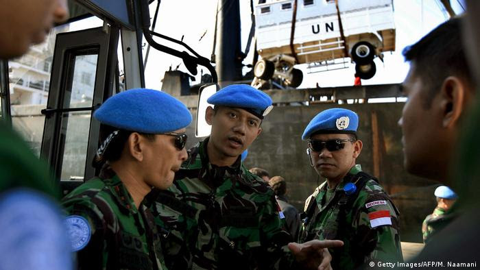Indonesien Agus Yudhoyono als Soldat im Libanon (Getty Images/AFP/M. Naamani)