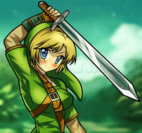 draw anime link step  step anime characters