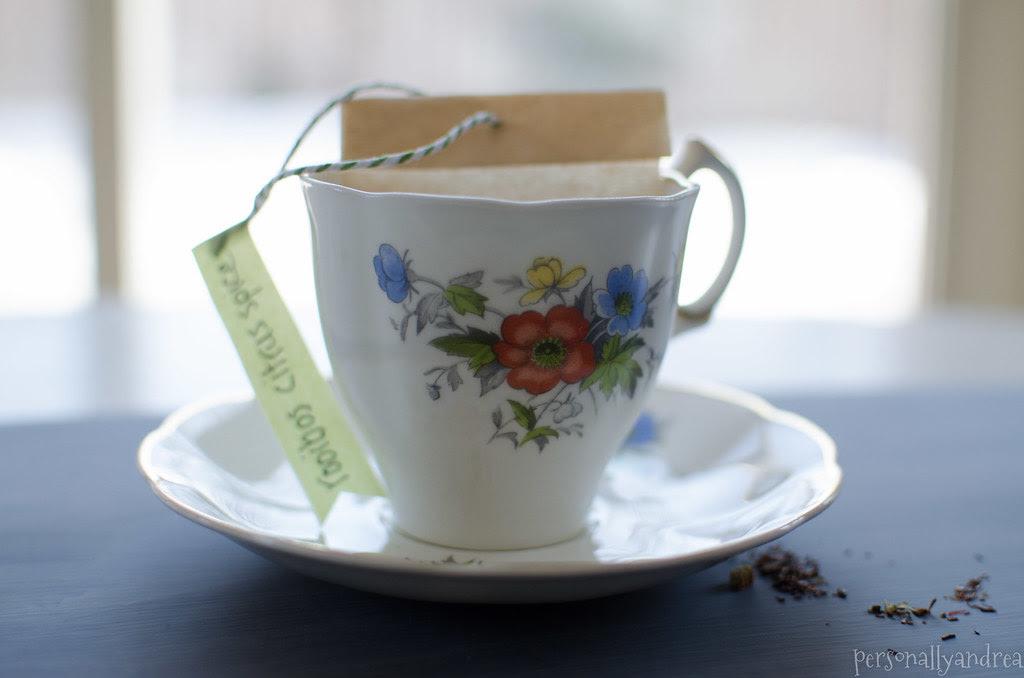 DIY Loose Leaf Teabag |  personallyandrea.com