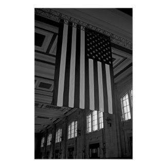 American Flag at Union Station Print