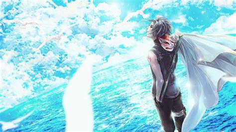 full hd wallpaper naruto sky ocean kakashi hatake cloack