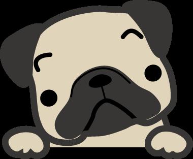 パグ犬のイラスト 無料イラストフリー素材 かわいい犬のイラスト