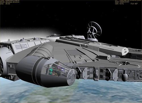 Millennium Falcon LEO Closeup