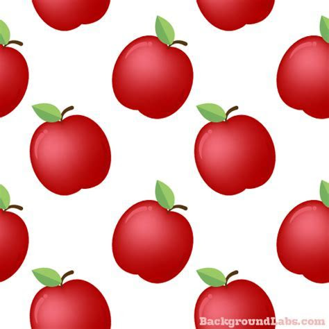 Apple Seamless Pattern   Background Labs