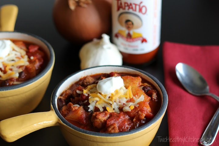 Crock-Pot Crazy Pineapple Chili | Two Healthy Kitchens