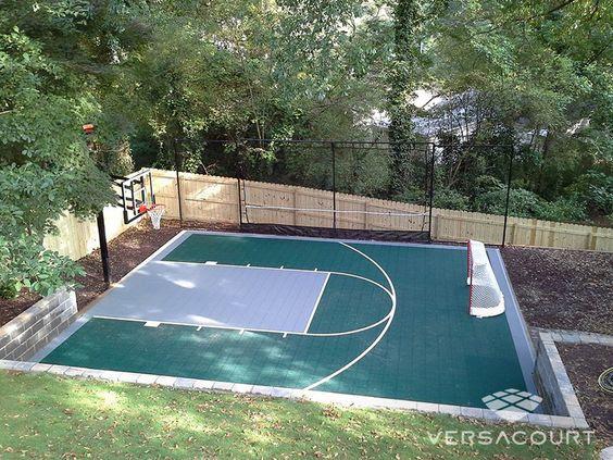 backyard basketball court ideas 24