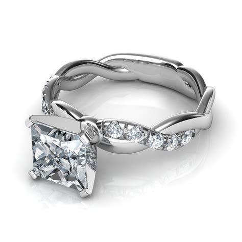 0.15 Ct Twist Diamond Wedding Band Natalie Diamonds
