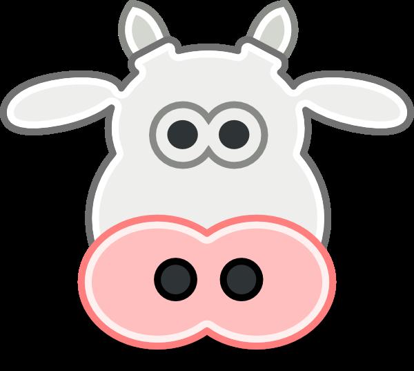 Cartoon Cows Face Clipartsco