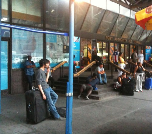 Outside the Port Authority
