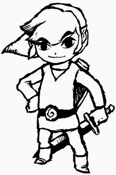 The Best Free Zelda Coloring Page Images Download From 487 Free