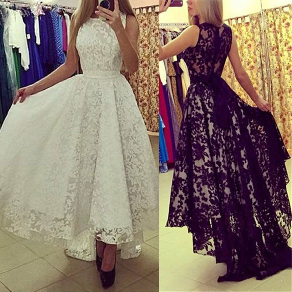 women formal long lace dress prom evening party cocktail