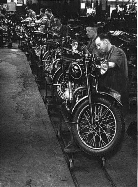 Matchless Factory in 1946 Classic Motorcycle Pictures