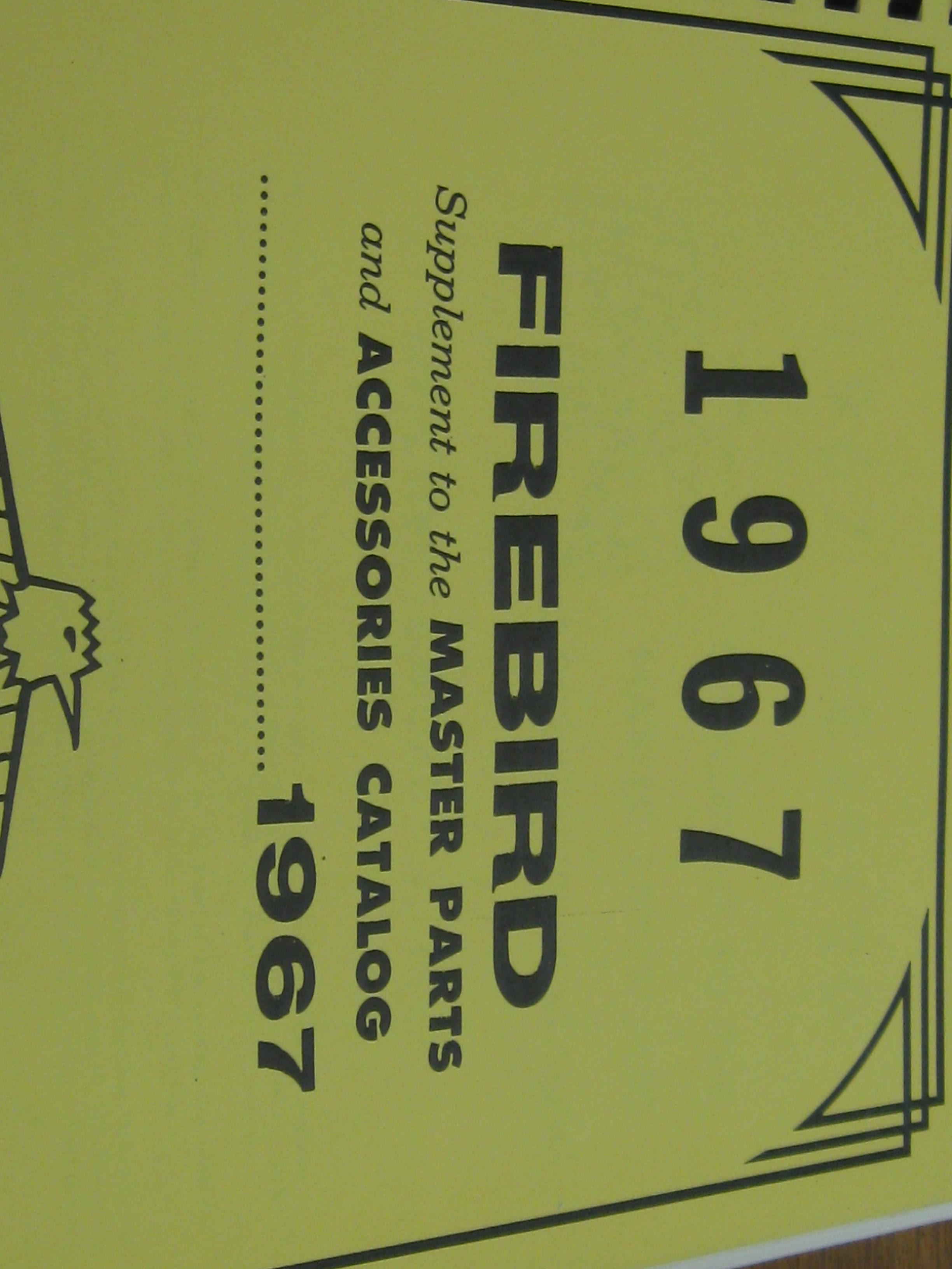 E26 1967 Pontiac Firebird Repair Manuals Wiring Library