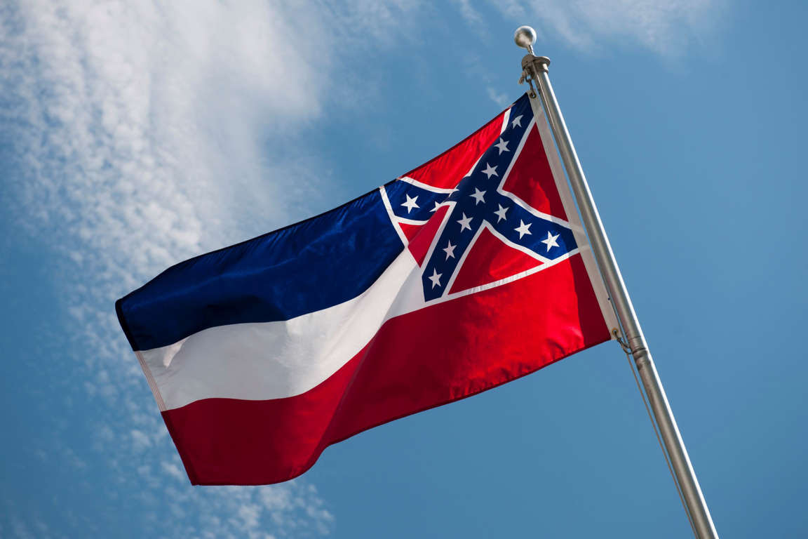 File photo of a Mississippi state flag.