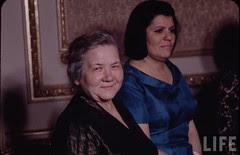 Mrs.Khrushchev in Cairo with Mrs. Nasser in 1960s