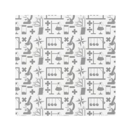 Science Biology Physics Geography Math Pattern Metal Photo Print