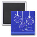 Classy Blue Christmas Decorations Magnets