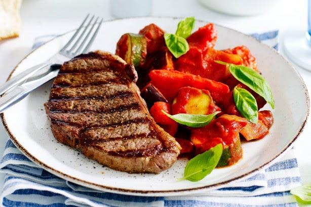 Chargrilled Rump Steak With Ratatouille Recipe - Taste.com.au