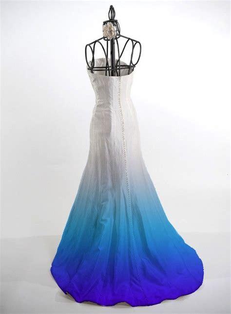 Ombre Dye Service for silk wedding dresses, fun wedding