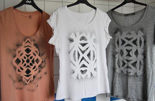 aztek print shirt diy