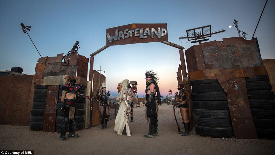For many, the end of the world might seem daunting, but for Wasteland Weekend festival goers, a post-apocalyptic world in the middle of a Californian desert is a form of escapism. Attendees pictured above at last year's festival