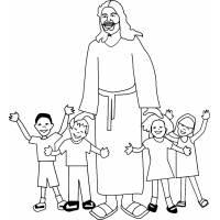 Disegno Di Gesù Con I Bambini A Colori Per Bambini