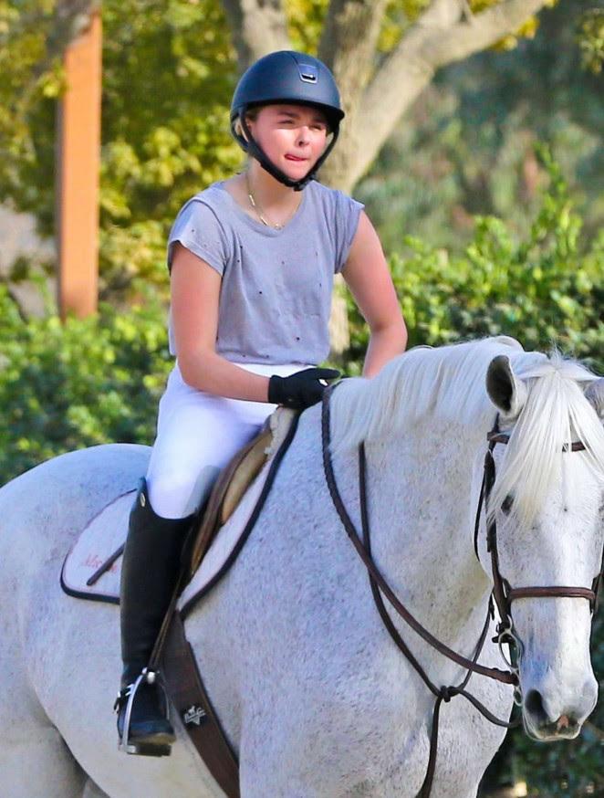 Chloe Moretz: Riding a Horse -09