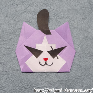 折り紙 妖怪ウォッチワルニャンの折り方 キャラクター折り紙com