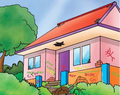 Gambar Lingkungan Rumah Bersih Dan Sehat Sekitar Rumah