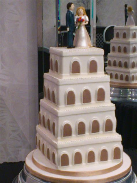 4 Tier Stacked Wedding Tower Themed Cake « Susie's Cakes