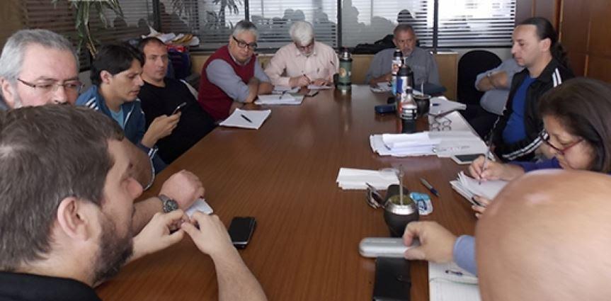 Mesa Sindical Coordinadora de Entes. Foto: PIT CNT.