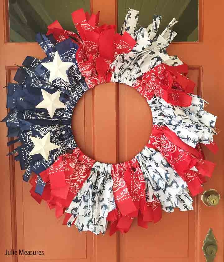 Bandanna Patriotic Wreath