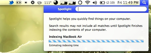 Enable Spotlight in OS X Lion