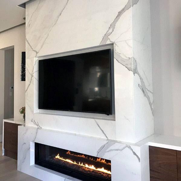 Top 60 Best Linear Fireplace Ideas Modern Home Interiors