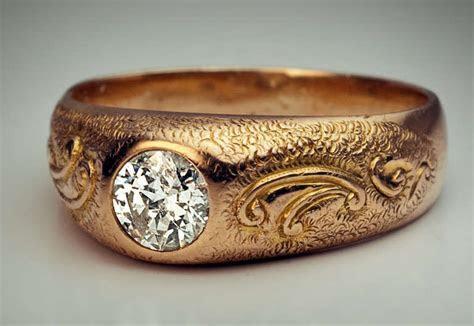Men's Diamond Ring 1920s at 1stdibs