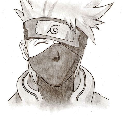 kakashi drawing easy  getdrawingscom