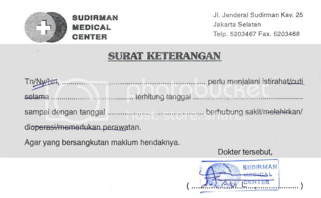 Contoh Surat Dokter Jakarta Selatan Surat 31