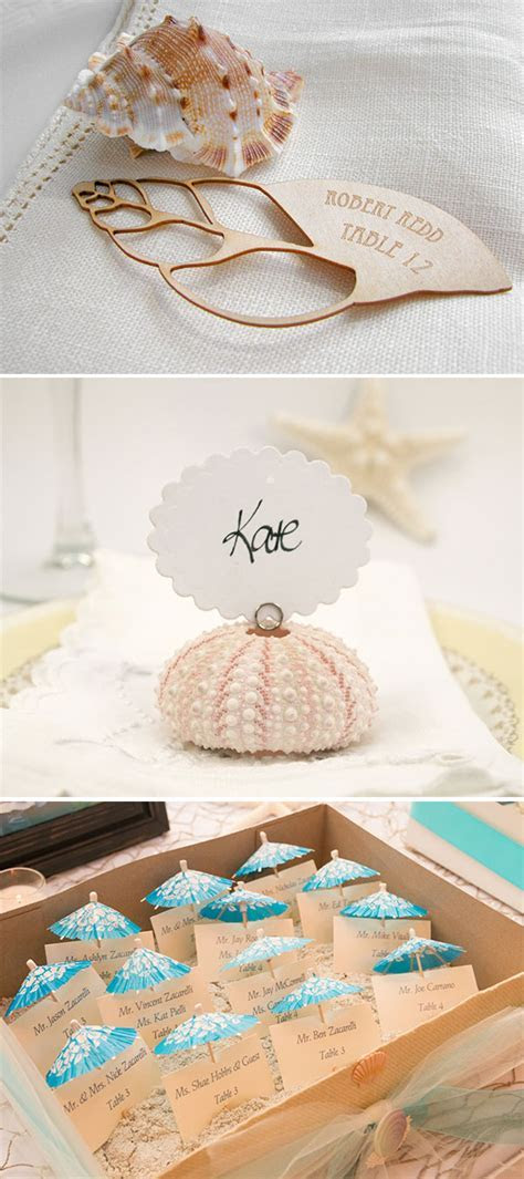 20 Wonderful Escort and Place Card Ideas for a Beach