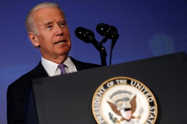U.S. Vice President Joe Biden delivers remarks at a conference of the Center for New American Security think tank in Washington U.S., June 20, 2016.  REUTERS/Carlos Barria