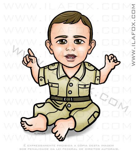 caricatura personalizada, caricatura para crianças, caricatura bebê, caricatura safari, menino, by ila fox