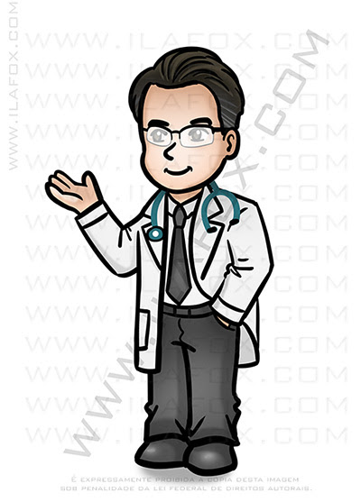Mini doutor, mini caricatura, caricatura personalizada, caricatura simples, by ila fox