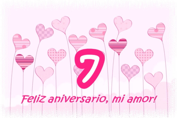 Felicitaciones Por Los Siete Anos De Matrimonio Feliz Aniversario
