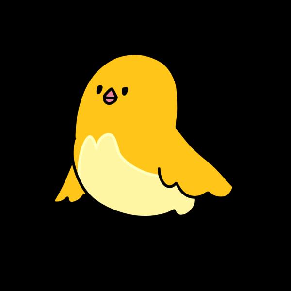 黄色の鳥のイラスト かわいいフリー素材が無料のイラストレイン