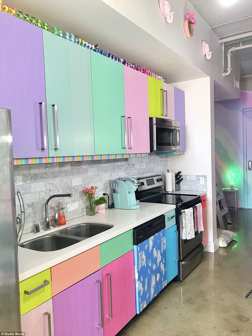 Internet goes crazy for for rainbow-colored apartment ...