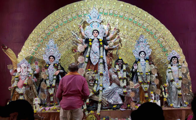 Durga idol  IMAGES, GIF, ANIMATED GIF, WALLPAPER, STICKER FOR WHATSAPP & FACEBOOK