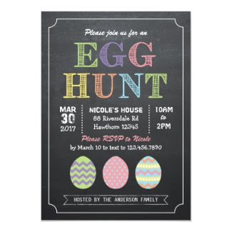 Easter Egg Hunt Invitation / Egg Hunt Invitation