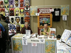 The Comic Critic table in artists alley